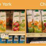 В американских магазинах молдавский сок стоит дешевле, чем в Кишиневе