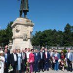 Представители посольств и общественных организаций  возложили цветы к памятникам и бюстам известных деятелей славянской культуры