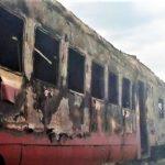 (FOTO) На севере страны загорелся пассажирский поезд «Унгены-Бельцы»