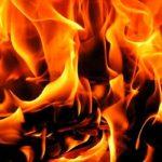 В Бессарабке, на территории бывшей нефтебазы, произошло возгорание