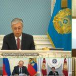 Игорь Додон принимает участие в онлайн-заседании Высшего Евразийского экономического совета.