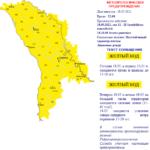 В Молдове синоптики объявили 2 августа желтый код из-за нестабильной погоды.